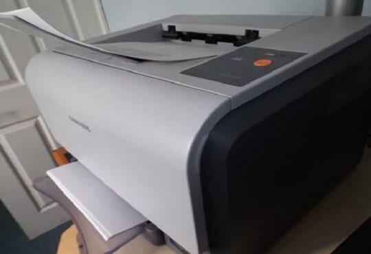 como saber se a impressora é a laser